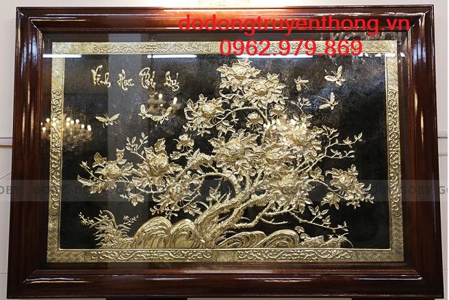 Tranh đồng mạ vàng Vinh Hoa Phú Quí quà tặng sang trọng