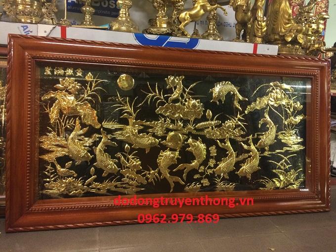Tranh đồng mạ vàng trang trí phòng khách Sang trọng