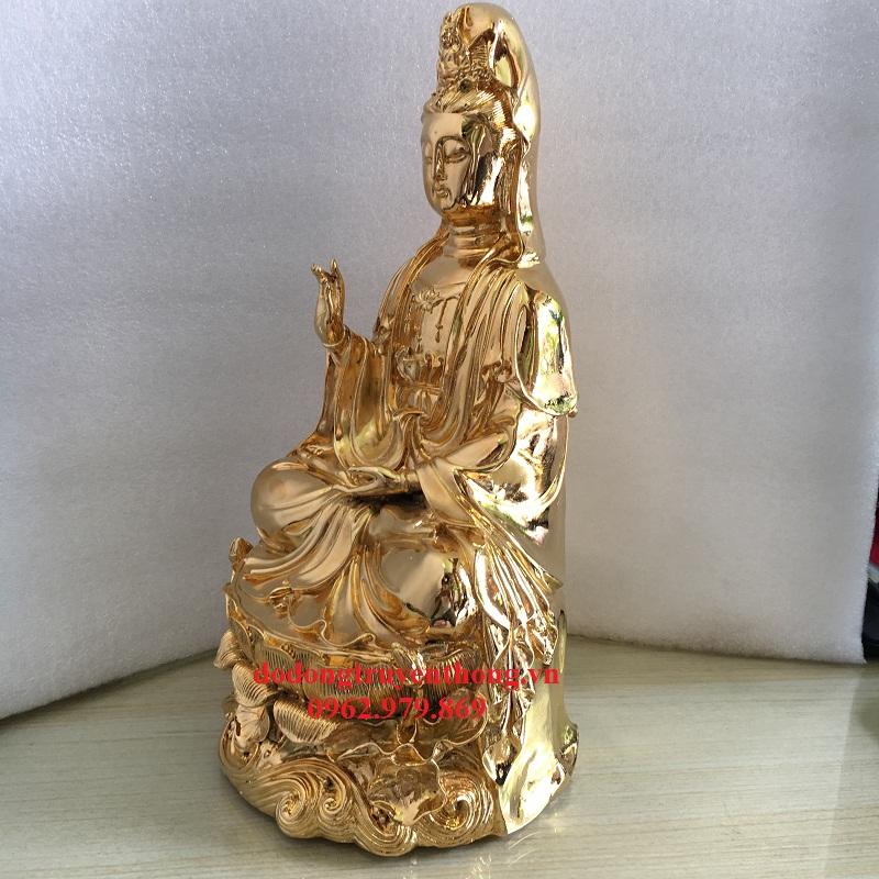 Địa chỉ mạ vàng 24 k tượng phật bà quan âm