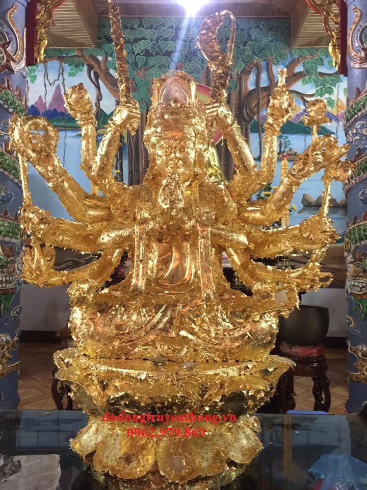 Thếp vàng 24k tượng phật tại Sài Gòn,Hà Nội