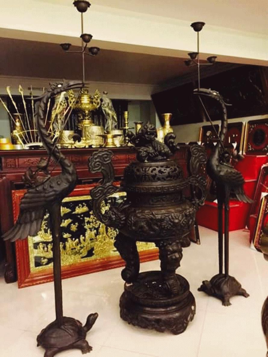 Đỉnh đồng 1, 2 m cúng chùa dịp đầu năm